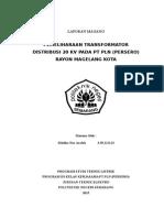 PEMELIHARAAN TRANSFORMATOR DISTRIBUSI 20 kV