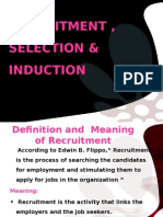 Recruitment, Selection & Induction