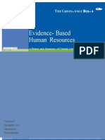 Evidence- Based Human Resources