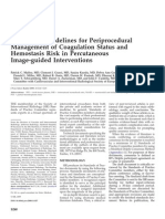 Consensus Guidelines for Periprocedural Management of Coagulation Malloy