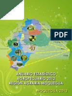 Anuario Estadistico Agropecuario 2012 Region Agraria Moquegua