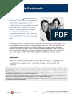 Investor Profile Questionnaire-358E
