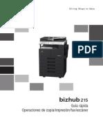Bizhub 215 Qg Copy Print Fax Scan Operations Es 1 1 1