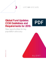 Global Fund Updates CCM Guidelines and Requirements for 2015