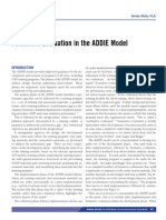 Formative Evaluation in the ADDIE Model