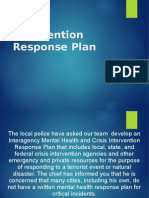 CJHS/410 Week five Intervention Response Plan