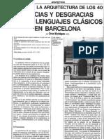 Años 40 Gracias y Desgracias de los lenguajes clásicos en Barcelona