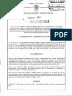 Decreto 816 Del 28 de Abril de 2014
