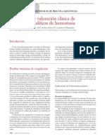 03.034 Indicaciones y Valoración Clínica de Las Pruebas Analíticas de Hemostasia