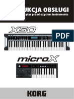KORG X50 - Instrukcja Obs__ugi PL