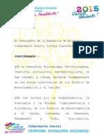 Orden Augusto César Sandino al presidente Nicolás Maduro