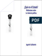 Agustín Guillamón, Qué Es El Estado. Reflexiones Sobre La Violencia Política.