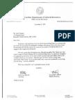 Sec. McCain Letter to John Masters Re