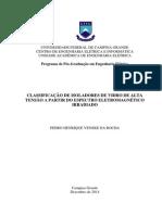 CLASSIFICAÇÃO DE ISOLADORES DE VIDRO DE ALTA  TENSÃO A PARTIR DO ESPECTRO ELETROMAGNÉTICO  IRRADIADO