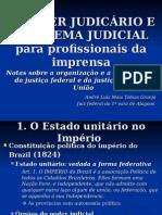 Apresentação _O PODER JUDICÁRIO E O SISTEMA JUDICIAL Para Profissionais Da Imprensa Notas Sobre a Organização e a Competência Da Justiça Federal e Da Justiça Militar - SLIDE