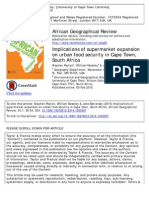 Implications of supermarket expansion on urban food security in Cape Town, South Africa