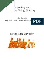 Biochemistry and Molecular Biology Teaching