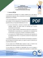 Reglamento Laboratorio de Psicologia FUNLAM