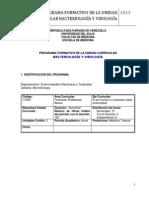 Programa Formativo Bacteriologia y Virologia 2013