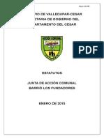 Estatutos Junta de Accion Comunal Barrio Los Fundadores