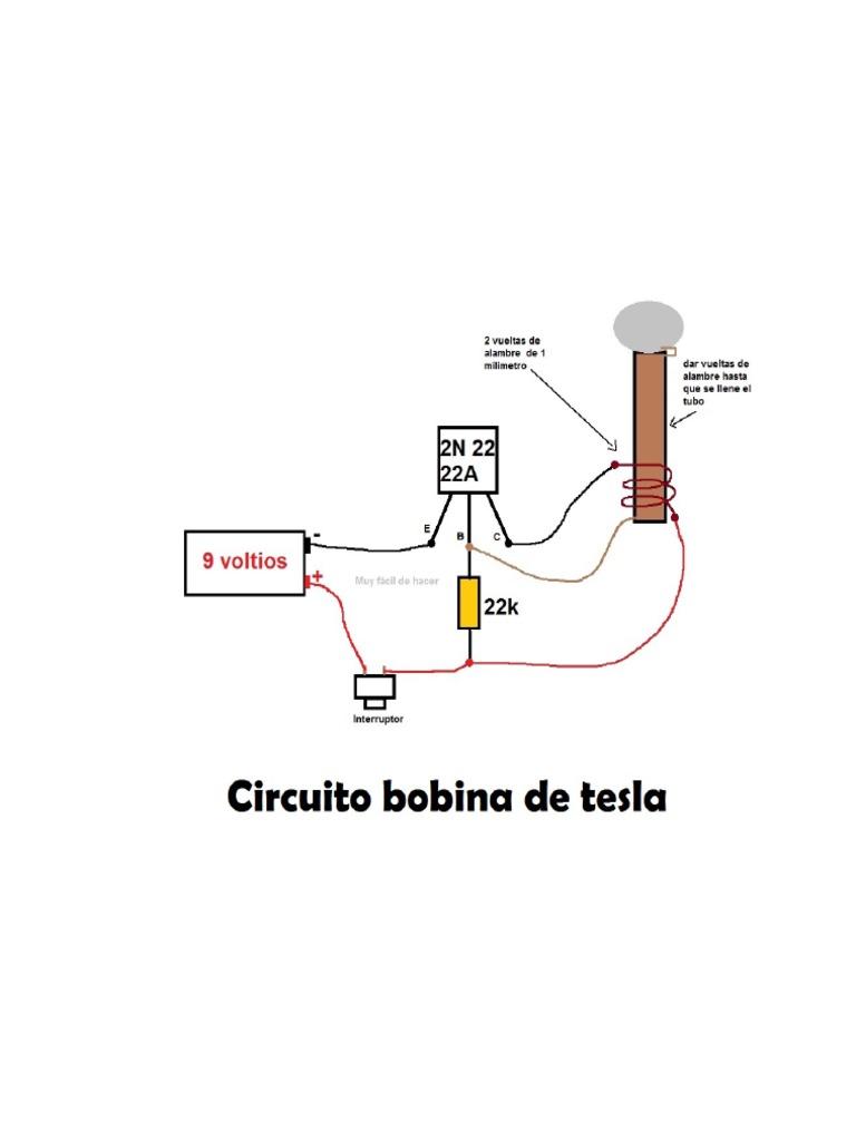 esquema de mini bobina de tesla