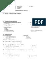 Psychiatry Case Report template
