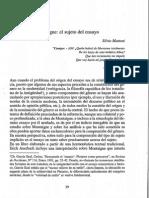 Mattoni, S. Montaigne, El Sujeto Del Ensayo