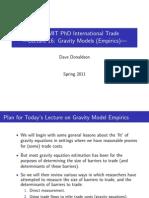 Lecture 16 - Gravity Models (Empirics)