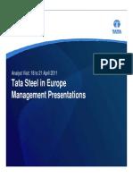 Www.tatasteel.com Investors PDF Investor Presentation Apr 2011