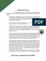 Comunicado Público Marzo17