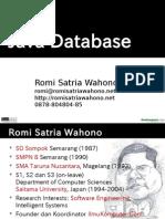 Romi Oop 05 Javadatabase 1mei2011