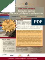 Percolation - Final Programme