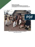 6th Pennsylvania Regiment, 1777 to 1783