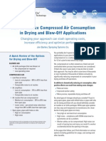 Reduce Air Use Drying Blowoff