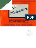 Fascículo 33 -  Diseño Curricular de MATEMÁTICA en el octavo y noveno  año de la EGB3 - 1ra PARTE_ DGE Provincia de Mendoza