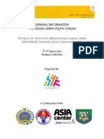 ASEAN Japan Youth Forum 2015-General Information