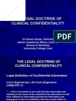 20140107 Lecture on The Legal Doctrine of Clinical Confidentiality.ppt