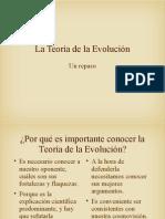 La Teoría de La Evolución