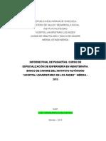 Informe Final Pasantias Banco de Sangre