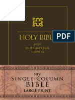 NIV Single-Column Bible, Large Print Sampler