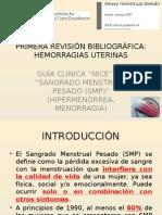 Sangrado menstrual pesado. Guía NICE 2007