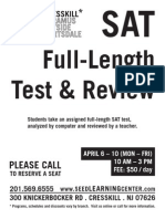 Cresskill SAT Test Review for April 6-10, 2015