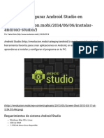 Instalar Android Studio en Windows (JAVA_HOME)