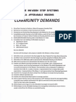 Community Demands from Mission Community Meeting