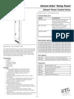7123L1000 Echo Relay Panel Datasheet RevD