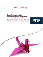 Lean Management Une Strategie de Long Terme - Capgemini Consulting