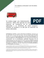 Chofer de Colectivo Condena Al Empleador y Art Por Hernia de Disco Miércoles