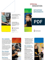 orthopedic impairments brochure