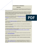 Visa Residente Temporario Brasil