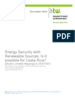 Energy Security with Renewable Sources in Costa Rica
